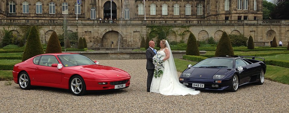 Ferrari and Lamborghini Weddings car